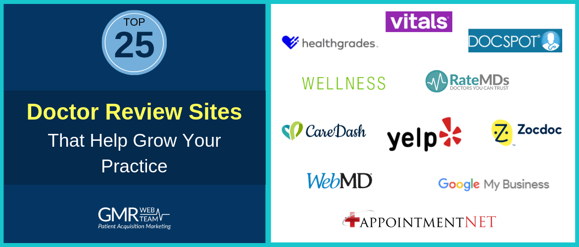 Top 25 Doctor Review Sites to Improve the Online Presence of Your Practice