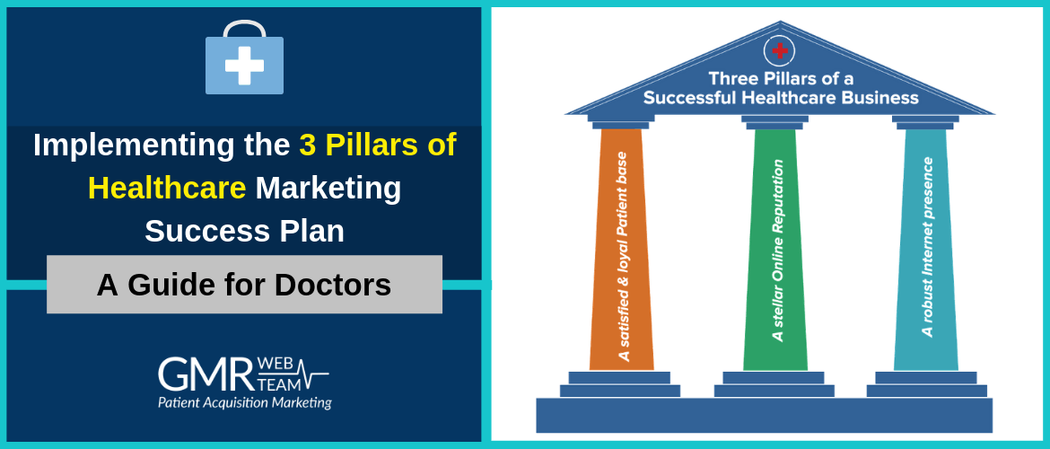 Implementing the 3 Pillars of Healthcare Marketing Success Plan – A Guide for Doctors