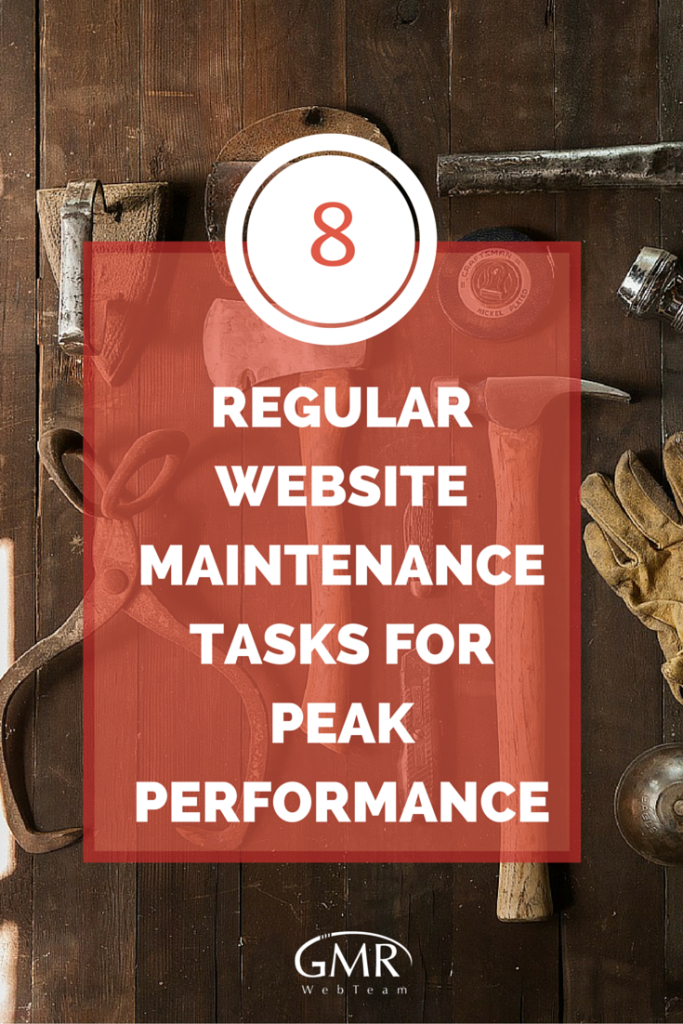 8 Regular Website Maintenance Tasks for Peak Performance [Pin]