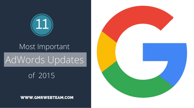 Important AdWords Updates of 2015