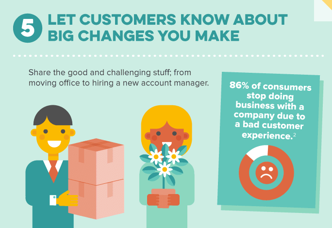 inform customers of big changes